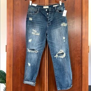 NWT PacSun Distressed Ripped Mom Jeans in Size 28